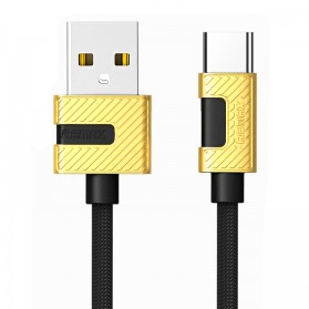 Remax Metal Series Kabel USB Type C - RC-089a - Black