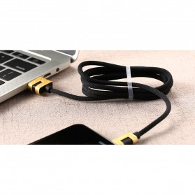 Remax Metal Series Kabel USB Type C - RC-089a - Black - 2