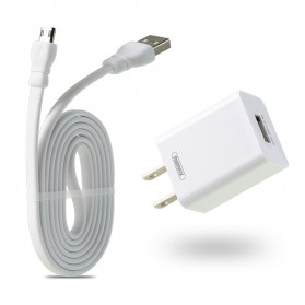 Remax Adapter USB Charger EU Plug 2.4A with USB Type C - RP-U14 - White - 3
