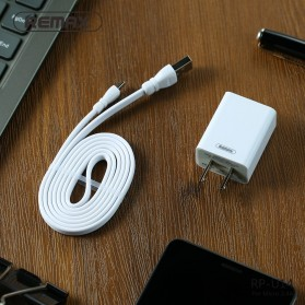 Remax Adapter USB Charger EU Plug 2.4A with Lightning - RP-U14 - White - 8