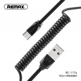 Remax Radiance Pro Spring Kabel USB Type C - RC-117a - Black