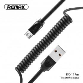 Remax Radiance Pro Spring Kabel Micro USB - RC-117m - Black