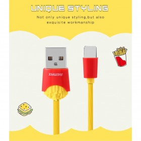 Remax Chips Series Kabel USB Type C - RC-114a - Yellow - 7