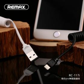 Remax Radiance Pro Spring Kabel Lightning - RC-117i - Black - 5