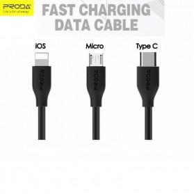 Proda Kabel Charger Micro USB 2.1A 1 Meter - PD-B15M - Black - 3