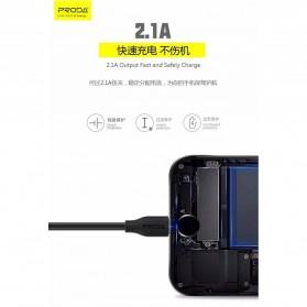 Proda Kabel Charger Micro USB 2.1A 1 Meter - PD-B15M - Black - 5