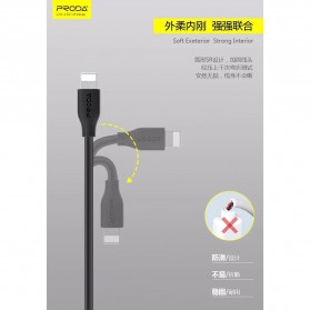 Proda Kabel Charger Micro USB 2.1A 1 Meter - PD-B15M - Black - 6