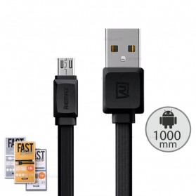 Remax Fast Pro Kabel Charger Micro USB 2.4A 1 Meter - RC-129m - Black
