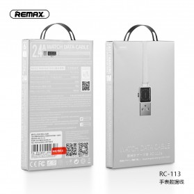 Remax Watch Series Kabel Charger Lightning 2.4A 1 Meter - RC-113i - Black - 3
