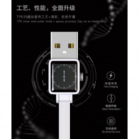 Remax Watch Series Kabel Charger Lightning 2.4A 1 Meter - RC-113i - Black - 6