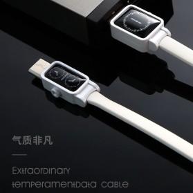 Remax Watch Series Kabel Charger Lightning 2.4A 1 Meter - RC-113i - Black - 7