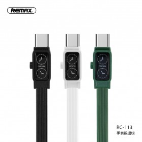 Remax Watch Series Kabel Charger USB Type C 2.4A 1 Meter - RC-113a - Black - 5