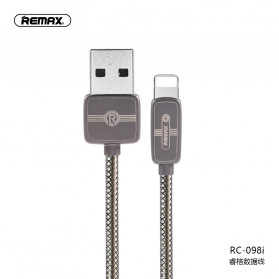 Remax Regor Series Kabel Charger Lightning 2.1A 1 Meter - RC-098i - Black