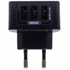 Remax Kooker Series Charger USB 3 Port 2.4A - RP-U32 - Black - 1