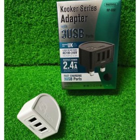 Remax Kooker Series Charger USB 3 Port 2.4A - RP-U32 - Black - 4