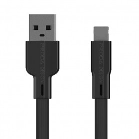 Remax Proda Fons Series Kabel Charger Micro USB Noodle 2.1A 1 Meter - PD-B18m - Black - 1