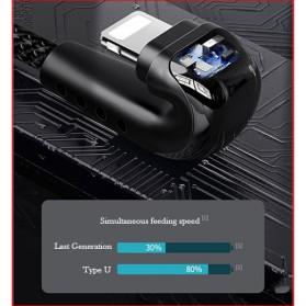 Remax Heymanba Kabel Charger USB Type C L Shape 3A 1 Meter - RC-097a - Black - 2