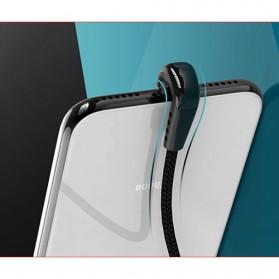 Remax Heymanba Kabel Charger USB Type C L Shape 3A 1 Meter - RC-097a - Black - 5