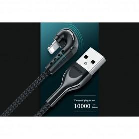 Remax Heymanba Kabel Charger USB Type C L Shape 3A 1 Meter - RC-097a - Black - 6
