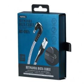 Remax Heymanba Kabel Charger USB Type C L Shape 3A 1 Meter - RC-097a - Black - 9