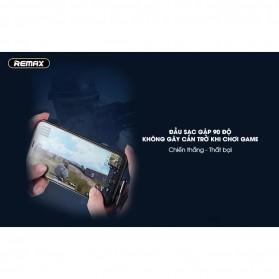Remax Gaming Kabel Charger Lightning L Shape 3A 1 Meter - RC-155i - Black - 10