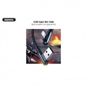 Remax Gaming Kabel Charger Lightning L Shape 3A 1 Meter - RC-155i - Black - 4