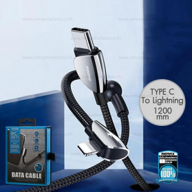Remax Qiker Series Kabel Charger Lightning to USB Type C 1.2 Meter - RC-087i - Black - 3