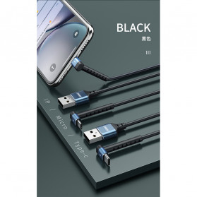 Remax Joy Series Kabel Charger Micro USB 2.4A 1 Meter - RC-100m - Black - 8