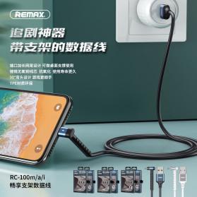 Remax Joy Series Kabel Charger Micro USB 2.4A 1 Meter - RC-100m - Black - 2
