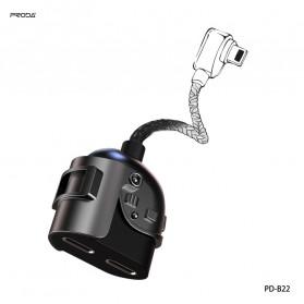 Remax Proda Armor Series Kabel Splitter 2 in 1 Lightning to 2xLightning 2A - PD-B22 - Black - 3