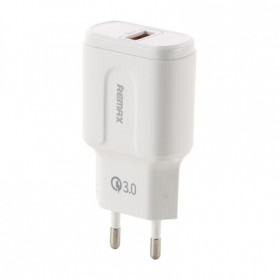 Remax Charger USB Quick Charge 3.0 3A 1 Port - RP-U16 - White