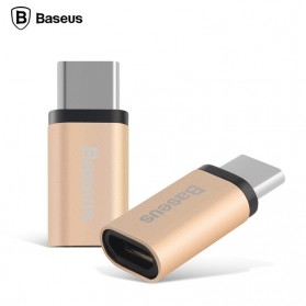Baseus Rui Series Micro USB to USB 3.1 Type C Adapter Converter - Champagne Gold