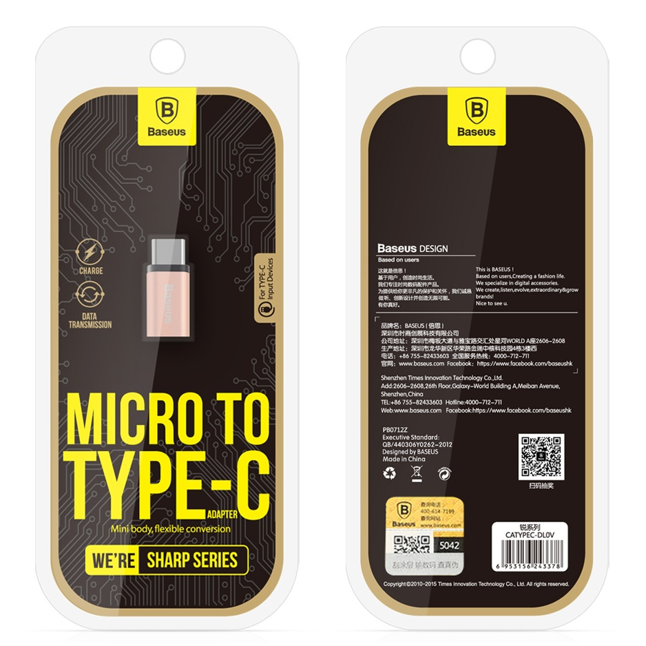 Baseus Rui Series Micro Usb To 31 Type C Adapter Converter Orico Ctm1 Silver Gray 5