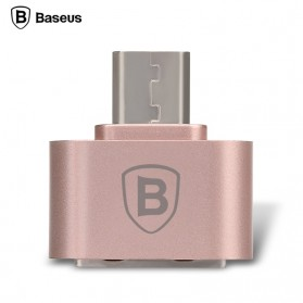 USB Converter - Baseus Multifunction Micro USB to USB OTG Adapter for Smartphone - Rose Gold
