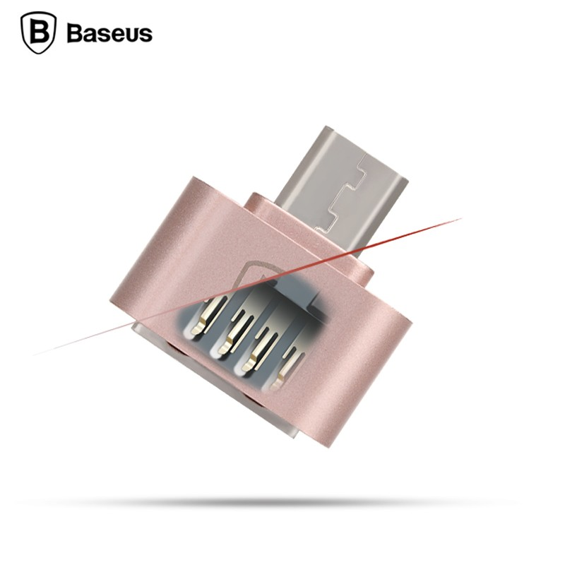 Baseus Multifunction Micro Usb To Usb Otg Adapter For