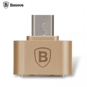 USB Converter - Baseus Multifunction Micro USB to USB OTG Adapter for Smartphone - Golden