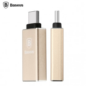 Baseus Rui Series USB 3.0 to USB 3.1 Type C Adapter Converter - Champagne Gold