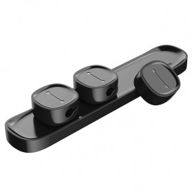 Baseus Magnetic USB Cable Clip Holder - ACWDJ-01 - Black