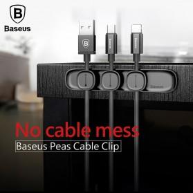 Baseus Magnetic USB Cable Clip Holder - ACWDJ-01 - Black - 3