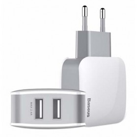 Baseus Letour Charger USB 2 Port 2.4A - White