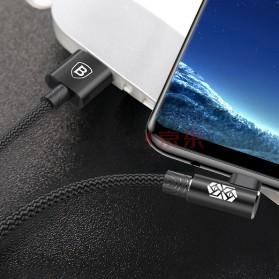 Baseus MVP L Shape Kabel Charger USB Type-C 2A 1 Meter - CATMVP-A01 - Black - 3