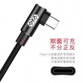 Baseus MVP L Shape Kabel Charger USB Type-C 2A 1 Meter - CATMVP-A01 - Black - 6