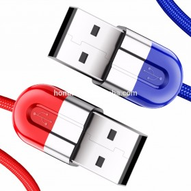 Baseus Couple Magnetic Kabel Charger Lightning 2A 1 Meter 2 PCS - Blue/Red - 4