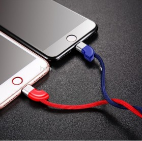 Baseus Couple Magnetic Kabel Charger Lightning 2A 1 Meter 2 PCS - Blue/Red - 6