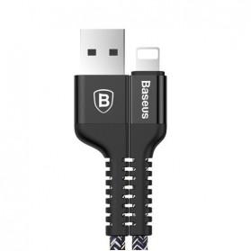 Baseus Confidant Anti Break Kabel Charger Lightning 2A 1 Meter - Black