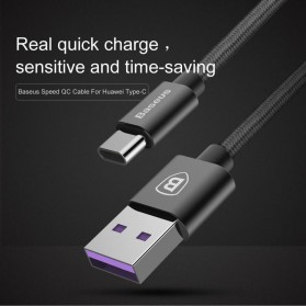 Baseus Speed Series Kabel Charger USB Type C 5A 1 Meter - Black - 2