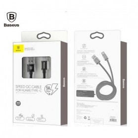 Baseus Speed Series Kabel Charger USB Type C 5A 1 Meter - Black - 6