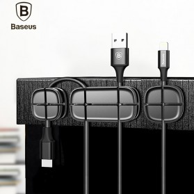 Baseus Cross USB Cable Clip Holder - ACTDJ-01 - Black