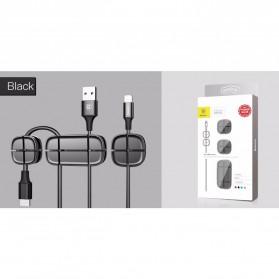 Baseus Cross USB Cable Clip Holder - ACTDJ-01 - Black - 2