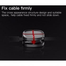 Baseus Cross USB Cable Clip Holder - ACTDJ-01 - Black - 6
